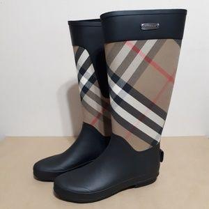 Burberry Clemence Rubber Rain Boots Size EU 39